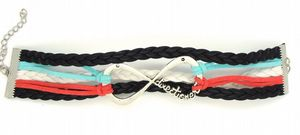 One Direction, infinity bracelet, suede cords & braided leather bracelet,